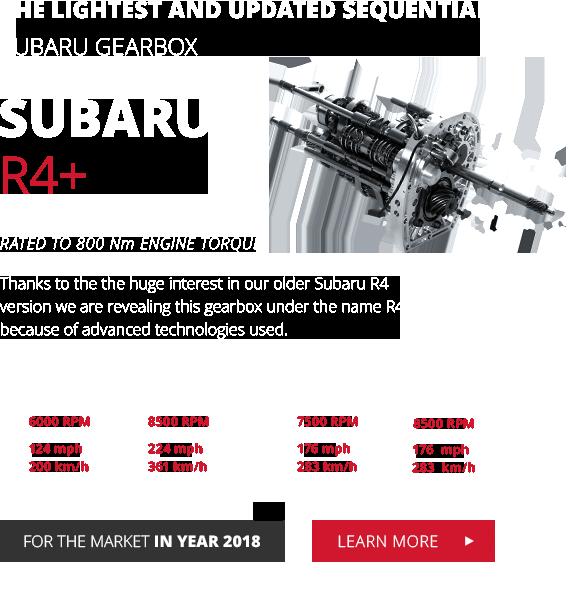 Racing gearboxes for Subaru, Mitsubishi and Porsche   xShift
